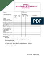 Vendor Performance Evaluation Form