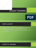 Accent Training
