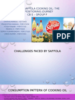 Saffola Cooking Oil Group F Sec E