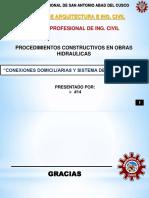Conexiones Domiciliarias y Sistemas de Alcantarillado