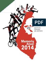 Memoria Anual Ipd 2014