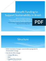 Public Benefit Funding to Support Sustainability in Brazil