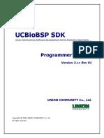 UCBioBSP SDK Programmer's Guide v3.00 (Eng)(v3.4.1.0_20160426)