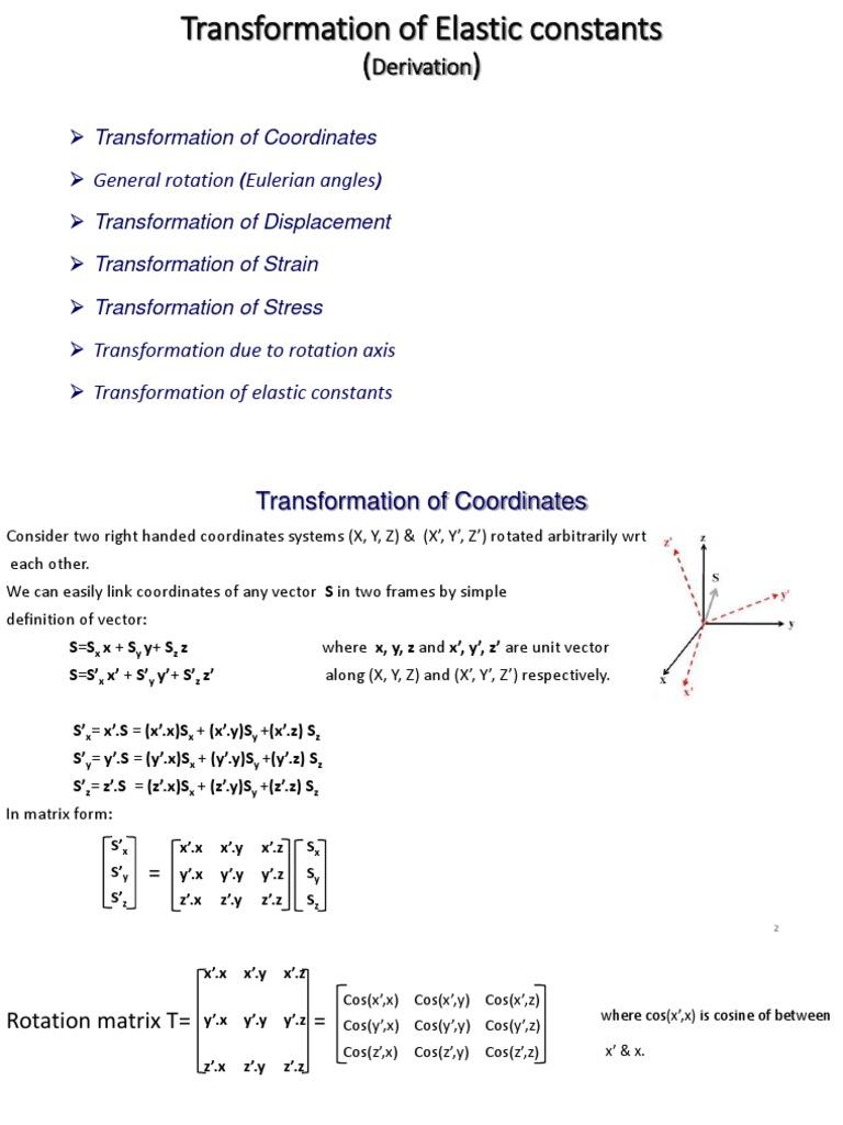 Transformation | Euclidean Vector | Matrix (Mathematics)