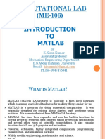 Lecture on MATLAB for Mechanical Enginee