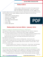 Maharashtra Current Affairs 2016(Jan - Apr) by AffairsCloud