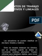 Elementos de Trabajo Rotativos y Lineales