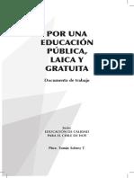 Por Una Educación Laica Publica y Gratuita