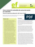 Uso y Comercio Sostenible de Carne de Monte en Colombia