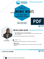 Economic Moats - Notes For Early Stage Tech Startups and Their Investors