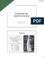 1- Evaluación de Columna Cervical 2015