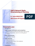 UMTS Radio DimensionIng  and Planning