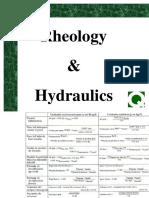 Rheology & Hydraulics