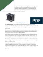 Dc Transformer Principle