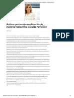 06-08-16 Activos protocolos en situación de material radiactivo