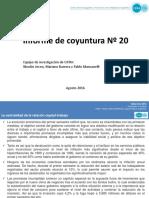 Informe de Coyuntura del CIFRA-CTA