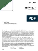 Fluke 1577-1587 Usuario