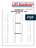 Online Jee Main Paper Answerkey Solutions v2!11!04 2015