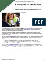 12/07/16 Claudia Pavlovich entrega trípticos informativos a automovilistas. -Sexenio