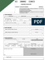Impreso de Matricula