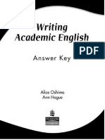 Writing Academic English key