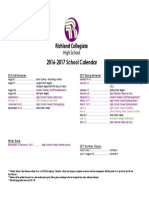 2016 2017 RCHS School Calendar