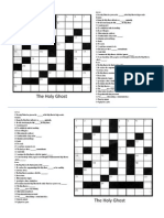 Holy Ghost Crossword Puzzle