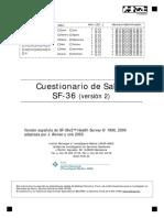 CUESTIONARIO SF36