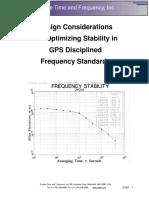 PTF GPS Stability Design