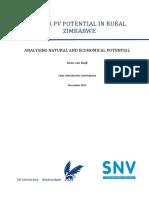 Van Kuijk - Solar Pv Potential in Rural Zimbabwe