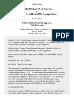 United States v. Stephen A. Williamson, 154 F.3d 504, 3rd Cir. (1998)