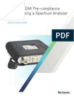 Low-cost EMI Pre-compliance Testing Using a Spectrum Analyzer