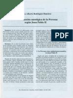 La Constitucion Ontologica de La Persona Segun Juan Pablo II