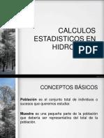 Calculos Etadisticos en Hidrologia
