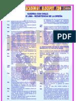 GUERRA CON CHILE CAMPAÑA DE LIMA - RESISTENCIA DE LA BREÑA