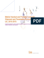 Mobile Handset and Portable Computer Shipment and Penetration Forecasts for the US 2010-2015 EXT
