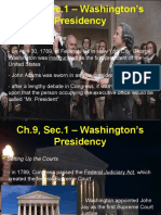 ch 9 sec 1 washingtons presidency   ppt