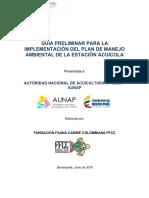 Guía preliminar Plan Manejo Ambiental Estaciones Acuícolas