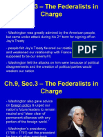 ch 9 sec 3 the federalists in charge