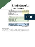 CP LCI LCA Pos Fixada Rentabilidade Liquida
