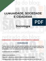 Sociologia - Comunidade Sociedade e Cidadania