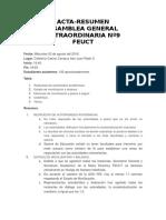 Acta Asamblea General Extraordinaria Nº9