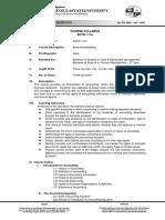 Basic Bookkeeping Syllabus