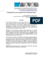 Fernandez de Castro (2013) Perspectivas en Torno Al Desarrollo de La Comprensiòn Lectora
