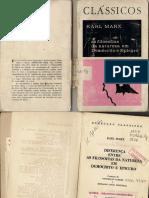 MARX FilosofiasNaturezaDemócritoEpicuro EdPresença Lisboa 1972 IndexFontes