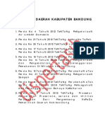Peraturan Daerah Kabupaten Bandung