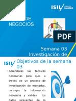 Semana 03 01 Investigacion de Mercados