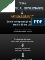 Good Clinical Governance & Patient Safety , Dinkes Prop, 22 Maret 2016