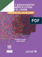 Niñas y adolescentes en América Larina y el Caribe, deudas ed igualdad