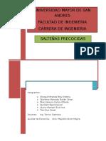 SALTEÑA PRECOCIDA